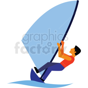 guy wind surfing vector clipart icon clipart. Commercial use image # 412958