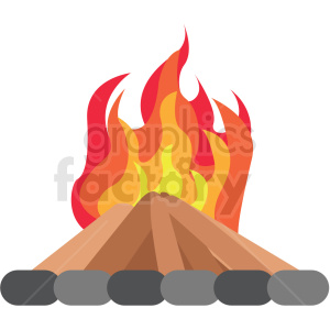 camp fire vector clipart icon clipart. Royalty-free image # 412965