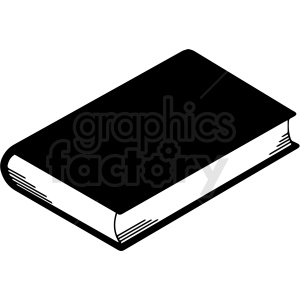 black and white book clipart. Commercial use image # 413007