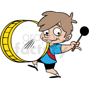 boy playing drum vector clipart clipart. Royalty-free image # 413017