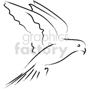black and white love bird vector clipart clipart. Commercial use image # 413344