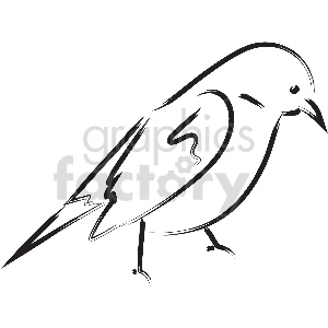 black and white bird vector clipart clipart. Royalty-free image # 413348