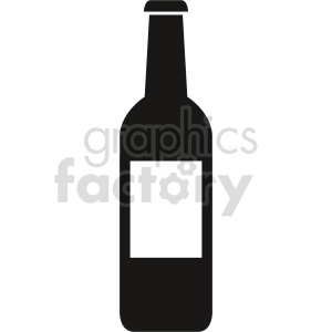 beer bottle silhouette vector clipart. Commercial use icon # 413434