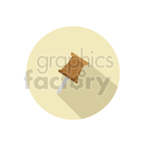 thumb tack vector clipart 3 clipart. Commercial use image # 413534