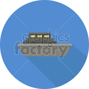 ship vector icon on blue circle background clipart. Commercial use image # 413540