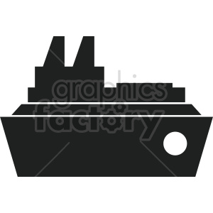 large ship vector icon no background clipart. Commercial use image # 413541