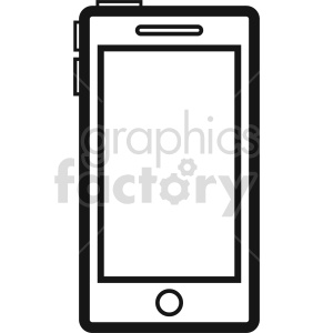 smartphone vector icon graphic clipart 10 clipart. Commercial use image # 413561