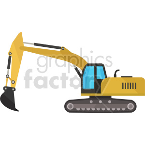 excavator vector graphic clipart 2 clipart. Commercial use image # 413641