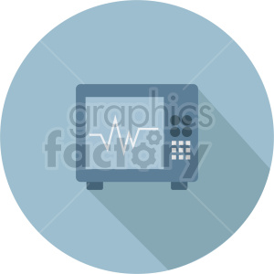 ekg machine vector icon graphic clipart 1 clipart. Commercial use image # 413800