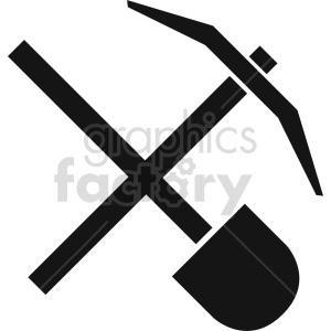 pickaxe shovel vector icon graphic clipart 5