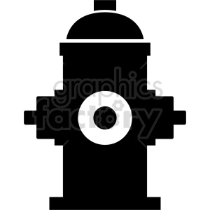 black fire hydrant vector icon graphic clipart clipart. Commercial use image # 413911