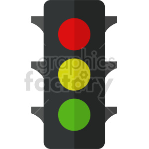 isometric traffic light vector icon clipart 6