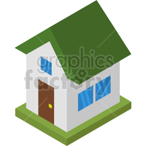 isometric house vector icon clipart 3 clipart. Commercial use image # 414018