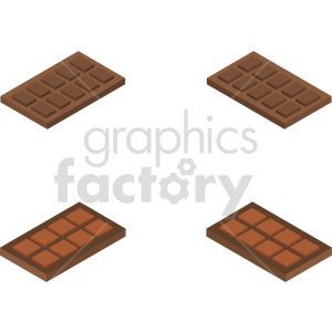 isometric chocolate bars vector icon clipart bundle clipart. Royalty-free image # 414047