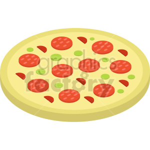 isometric pizza vector icon clipart 9