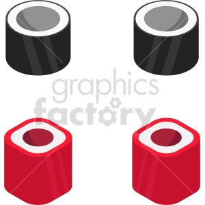 isometric sushi vector icon clipart 1 clipart. Commercial use image # 414071