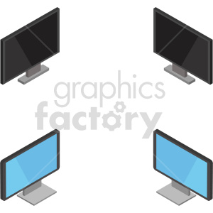 isometric tv vector icon clipart 1 clipart. Commercial use image # 414095