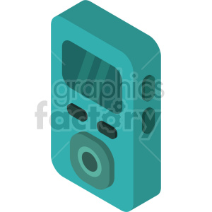 isometric mp3 player vector icon clipart 3