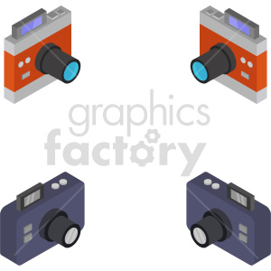 isometric camera vector icon clipart bundle clipart. Commercial use image # 414111