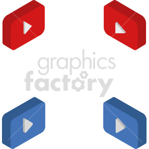 isometric play button vector icon clipart 2 clipart. Commercial use image # 414131