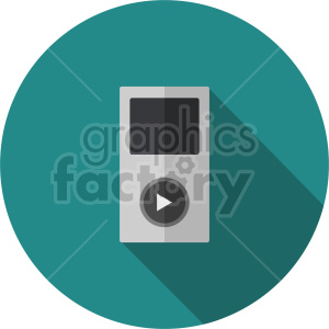 isometric music player vector icon clipart 2 clipart. Commercial use image # 414135