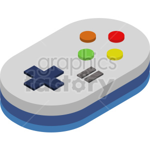 isometric game pad vector icon clipart 1 clipart. Royalty-free image # 414136