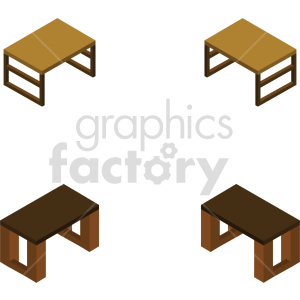 isometric computer desk vector icon clipart bundle clipart. Commercial use image # 414161