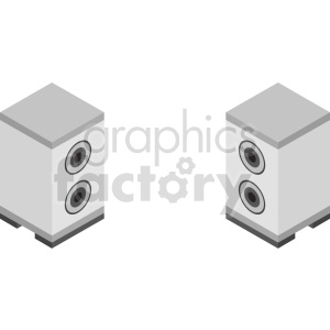 isometric white speakers vector icon clipart clipart. Commercial use image # 414165