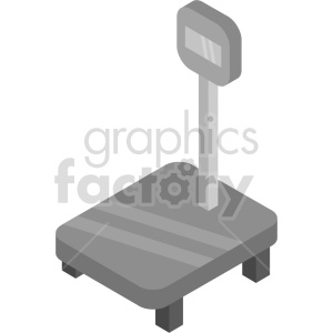 isometric digital scale vector icon clipart 3 clipart. Commercial use image # 414186