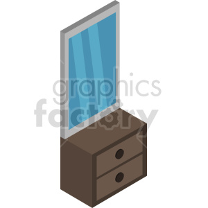 isometric mirror vector icon clipart 3 clipart. Commercial use image # 414199