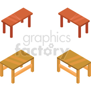 isometric kitchen table vector icon clipart 3 clipart. Commercial use image # 414216