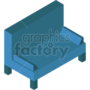 isometric couch vector icon clipart 3 clipart. Commercial use image # 414217