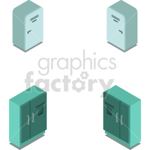isometric refrigerator vector icon clipart 10 clipart. Commercial use image # 414262