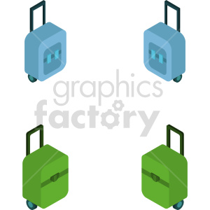 isometric luggage vector icon clipart 1 clipart. Commercial use image # 414276