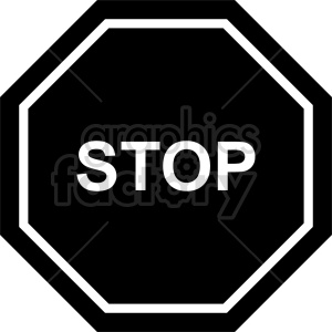stop sign vector icon clipart 4