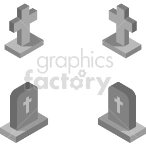isometric tombstone vector icon clipart 2 clipart. Commercial use image # 414365
