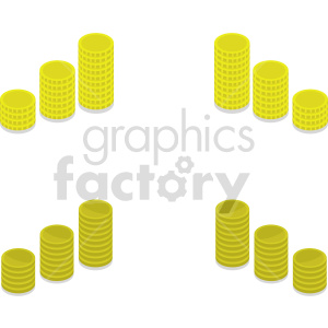 gold coins vector icon clipart 3 clipart. Commercial use image # 414385