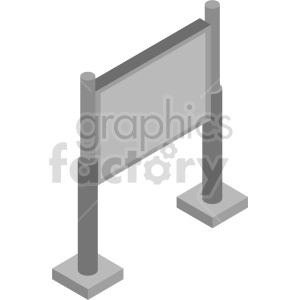isometric billboard vector icon clipart 3 clipart. Commercial use image # 414390