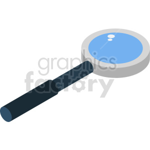 isometric magnifying glass vector icon clipart 2 clipart. Commercial use image # 414399