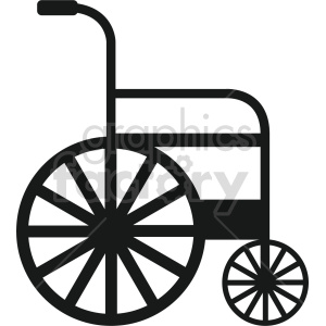 wheelchair vector icon clipart 4 clipart. Commercial use image # 414472
