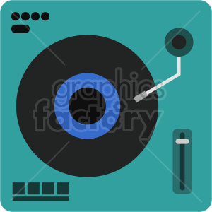 isometric record turn table vector icon clipart 3 clipart. Commercial use image # 414513