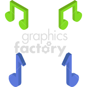 isometric music notes vector icon clipart 1 clipart. Commercial use image # 414514