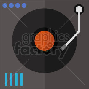 isometric record turn table vector icon clipart 1 clipart. Commercial use image # 414515