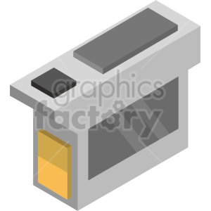 clipart - isometric ink cartridge vector icon clipart 4.