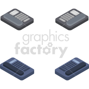 isometric phone vector icon clipart 6 clipart. Commercial use image # 414572