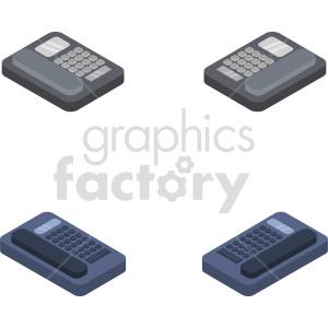 isometric phone vector icon clipart 6