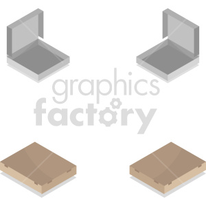 isometric pizza box vector icon clipart 1 clipart. Commercial use image # 414595