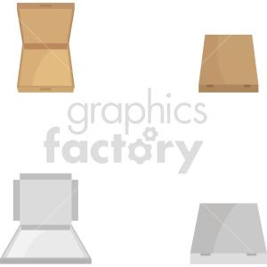 isometric pizza box vector icon clipart 2