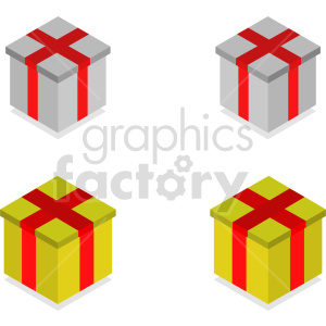 isometric gifts vector icon clipart 2 clipart. Commercial use image # 414606