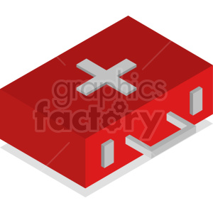 isometric medical bag vector icon clipart 5 clipart. Commercial use image # 414626
